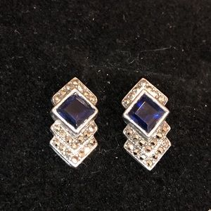Jewelry - Sparkly Sapphire Earrings!
